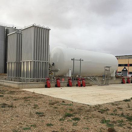 PLANTA GNL atmosférica con recalentador